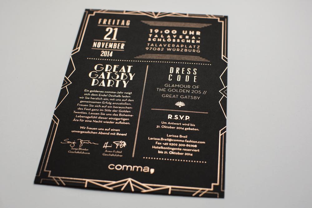 COMMA Party invitation
